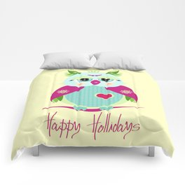 Purple Owl Comforters