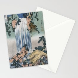 Yoro Waterfall In Mino Province - Hokusai Stationery Cards