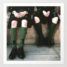 Scottish days Art Print