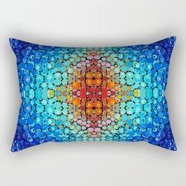 Inner Vision - Colorful Spiritual Abstract Art By Sharon Cummings Rectangular Pillow