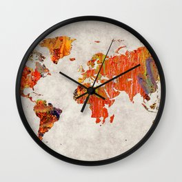 World Map 53 Wall Clock