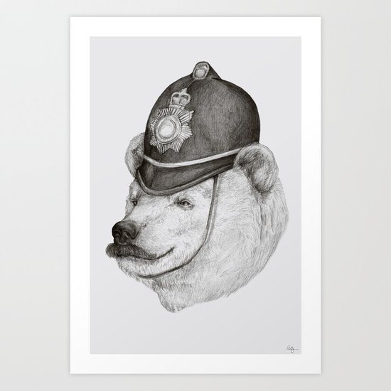 Bearly Legal Art Print