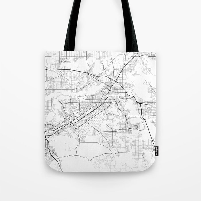 Minimal City Maps - Map Of Riverside, California, United States Tote Bag