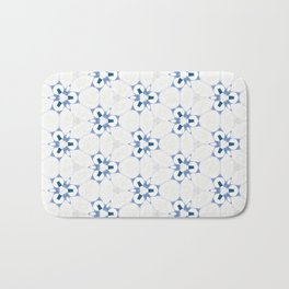 Blue White Abstract Pattern Badematte
