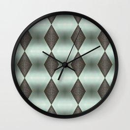 Mint Green, Cream & Chocolate Brown No. 5 Wall Clock