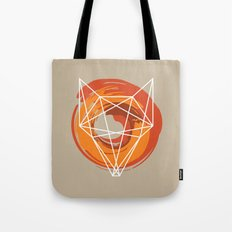 Geometric Fox Tote Bag