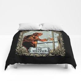 Skull Welder Tarot Comforters