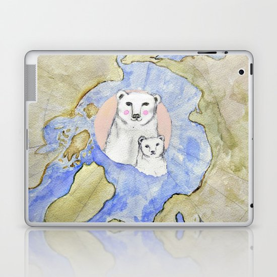 Polar Bear Portrait Laptop & iPad Skin