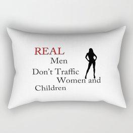 Real Men Don't Traffic Rectangular Pillow