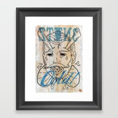 Don't forget about your cup of tea....... Framed Art Print