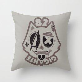 Cat Bastard Throw Pillow