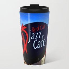 Red Cat Jazz Metal Travel Mug