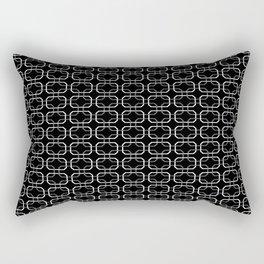 Small Black White and Gray Octagonal interlocking shapes Rectangular Pillow