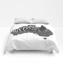 Australia map typo doodle Comforters