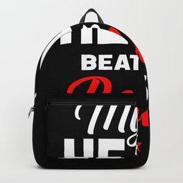 Heart Roller Skate Athlete Backpack