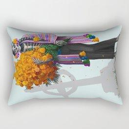 Catrina en Xochimilco Rectangular Pillow