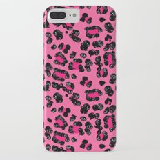 Leopard Pugs in Pink Slim Case iPhone 7 Plus