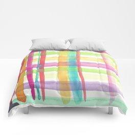 Rainbow Mesh Watercolor Comforters