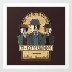 H-Division  Art Print