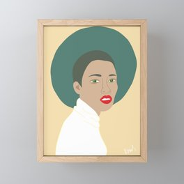 Woman with Hat Framed Mini Art Print