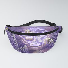 Striped crocus petals with bokeh effect Fanny Pack