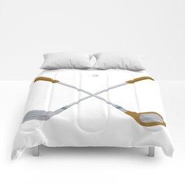 I Love Golfing Comforters