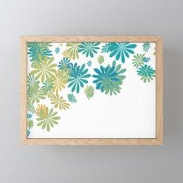 White floral splash Framed Mini Art Print