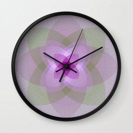 Lotus flower light Wall Clock
