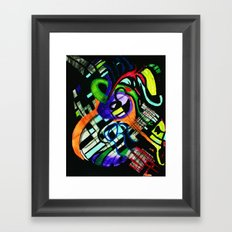 broken strings Framed Art Print