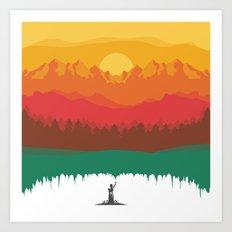 Layers Of Nature Art Print