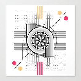 Turbo engine Canvas Print