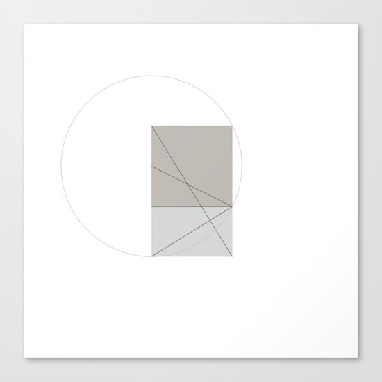 #391 Constructing another golden ratio – Geometry Daily Canvas Print
