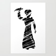 Norman Bates behind the curtain Art Print