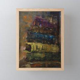 Old books, old stories.. Framed Mini Art Print