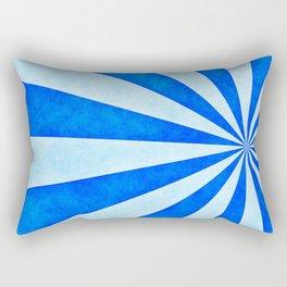 Blue sunburst Rectangular Pillow