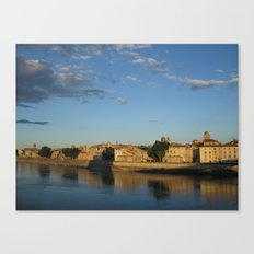 Sunset on the Rhône (Arles) Canvas Print