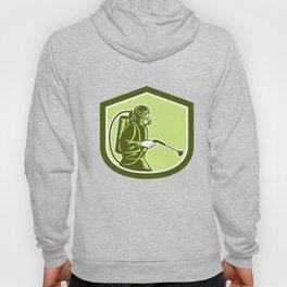 Pest Control Exterminator Spraying Shield Retro  Hoody