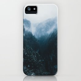 Foggy Forest Mountain Valley - Landscape Photography iPhone Case