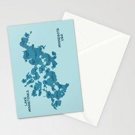Lake Minnetonka Map Stationery Cards