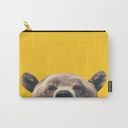 Bear - Yellow Carry-All Pouch