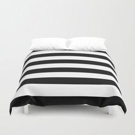 Stripe Black & White Horizontal Duvet Cover