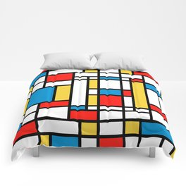 Tribute to Mondrian No2 Comforters