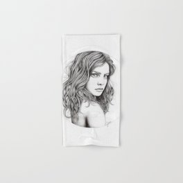 JennyMannoArt Graphite drawing Hand & Bath Towel
