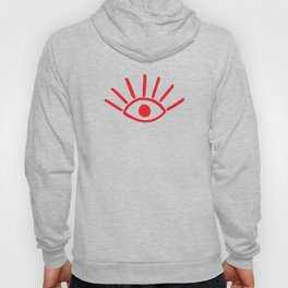 Red Evil Eye Pattern Hoody