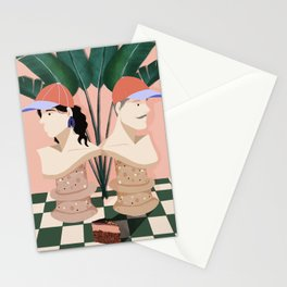 A Game of chess Stationery Cards