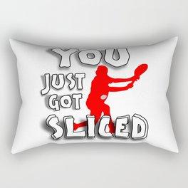 You Just Got Sliced Tennis Player Design Quote BTNNS Rectangular Pillow