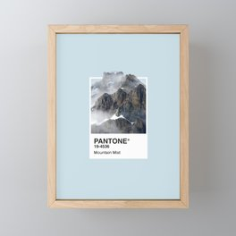 Pantone Series – Mountain Mist Framed Mini Art Print