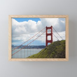 Golden Days Ahead - Golden Gate Bridge Framed Mini Art Print