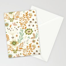 Little Creme Garden Flowers Stationery Cards