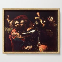 The Taking of Christ by Caravaggio (1602) Serving Tray